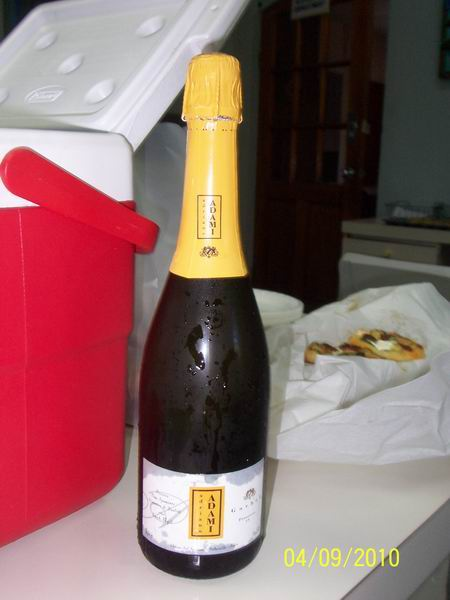 Chilled proseco for us
