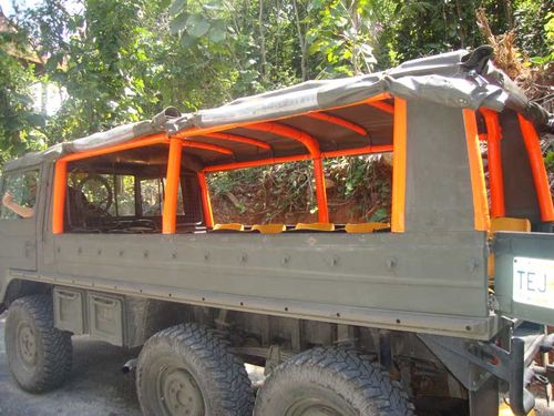 Vehicle that took us up to the first platform